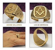 hand engraved masonic rings, signet rings for the Master Mason by engraving artist Adone T. Masonic Art, Masonic Jewelry, Mystic Symbols, Freemasonry, Knights Templar, Silver Bars, Signet Ring, Hand Engraving, Man Jewelry
