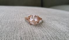Hey, I found this really awesome Etsy listing at https://www.etsy.com/listing/196907037/morganite-diamond-ring-peach-pink