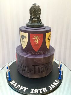Game Of Thrones birthday cake. Marbled fondant.