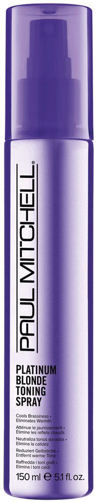 This stuff WORKS! @PaulMitchellUK Platinum Blonde Tonning Spray. For a quick fix, shimmery purple pigments dust the hair counteracting brassy hair on the go! Who said going blonde was high maintenance?! Read about it here: How to Take Care of Blonde Hair | www.theperfumeexpert.com