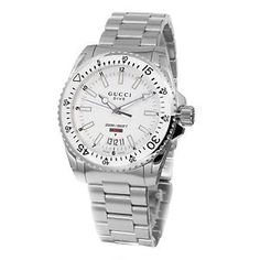 128fd76317c Shop for Gucci Men s  Dive  White Dial Stainless Steel Swiss Quartz Watch.  Get free delivery at Overstock - Your Online Watches Store!