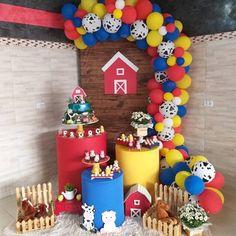 Farm Animal Party, Farm Animal Birthday, Barnyard Party, Cowboy Birthday, Farm Party, 1st Boy Birthday, Panda Birthday, Boys 1st Birthday Party Ideas, Birthday Decorations