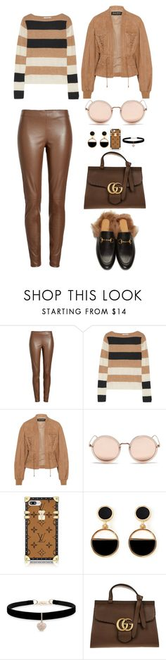 """""""Untitled #4157"""" by fashionhypedaily ❤ liked on Polyvore featuring Joseph, MaxMara, Balmain, Linda Farrow Vintage, Warehouse, Betsey Johnson and Gucci"""