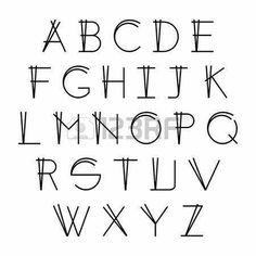 Risultati immagini per hand lettering font alphabet Bullet Journal Font, Journal Fonts, Journaling, Hand Lettering Alphabet, Calligraphy Letters, Typography Alphabet, Alphabet Design, Typography Poster, Typography Design