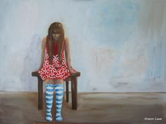 The Girl in the Red Dress – Sharon Cave Small Studio, Cave, Blouse, Artwork, Red, Pattern, Tops, Dresses, Women