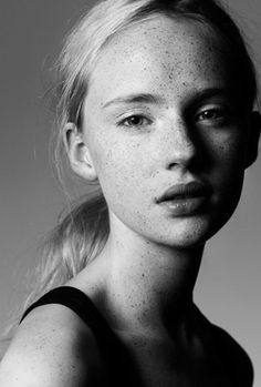 Freckles are beautiful 3 4 Face, Beautiful Freckles, Freckles Girl, Female Character Inspiration, Face Expressions, We Are The World, Black And White Portraits, Interesting Faces, Portrait Inspiration
