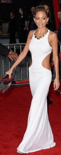 Nicole Richie in Emilio Pucci Wedding dress without the cutouts