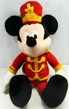 "24"" Mickey Mouse Plush Stuffed Toy Doll Parade Conductor Marshal Band Marching #Disney #Mickey Click Picture To Purchase Item For Sale On Ebay"