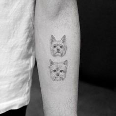 13 of the Cutest Animal Tattoos You Have to See - tatoos - Tier Cool Small Tattoos, Tattoos For Women Small, Minnie Tattoo, Baby Tattoos, Cutest Tattoos, Tatoos, Horse Tattoos, Puppy Tattoo, Cute Animal Tattoos