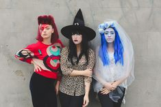 3 halloween costumes featuring the Bangin' Rackettes!
