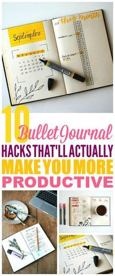These Bullet Journal Hacks are THE BEST! I'm so glad I found these AMAZING Bullet Journal ideas! Now I have some great ways to get more organized with my bullet journal layout and week! #bulletjournal #bulletjournaladdict #bulletjournaling #bulletjournaljunkies