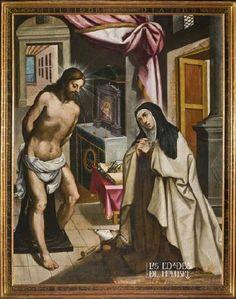 ORAR COMO TERESA, ANTE LA IMAGEN DE CRISTO Saint Teresa Of Avila, Saint Quotes, Catholic Saints, Sacred Art, Christian Faith, Ciel, Jesus Christ, Mystic, Spirituality