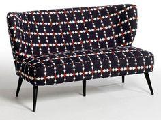 Canapé banquette Aroun et Amba - AM-PM La Redoute - Marie Claire Take A Seat, Love Seat, Am Pm La Redoute, Luxury Furniture, Furniture Design, Deco Retro, Designer, Accent Chairs, Sweet Home