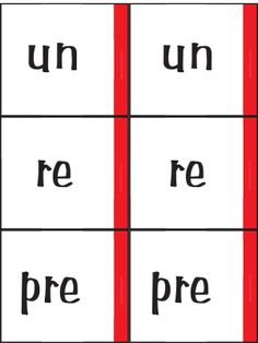 """FREE Printable Prefix Game~ Go 'Fix' is played much like """"Go Fish.""""  Students ask other players for word parts to help make valid matches.  RE + PLAY would be an acceptable match, but UN + PLAY would not.  Great, fun activity to reinforce word parts!"""