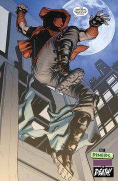Jason Todd, Red Hood (revamped) - Red Hood and the Outlaws Batman Comic Art, Gotham Batman, Batman Robin, Dc Comics Art, Marvel Dc Comics, Batman Red Hood, Red Hood Comic, Red Hood Dc, Avengers