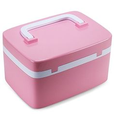 Beautify Cosmetic Organizer Hard Carrying Case Storage Containers with Coded Lock and Separate Compartments, Combination Locking Medicine Cabinet (Pink). For product & price info go to:  https://beautyworld.today/products/beautify-cosmetic-organizer-hard-carrying-case-storage-containers-with-coded-lock-and-separate-compartments-combination-locking-medicine-cabinet-pink/