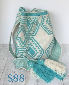 """New Cheap Bags. The location where building and construction meets style, beaded crochet is the act of using beads to decorate crocheted products. """"Crochet"""" is derived fro Crotchet Bags, Knitted Bags, Crochet Round, Hand Crochet, Surfergirl Style, Fashion Bags, Boho Fashion, Pool Accessories, Tapestry Bag"""