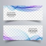 Banner with blue and purple wavy shapes Free Vector Page Design, Web Design, Graphic Design, Banner Shapes, Transparent Design, Free Website Templates, Facebook Banner, Web Banner Design, Design Development