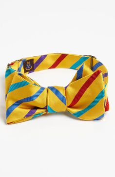 Free shipping and returns on Robert Talbott Silk Bow Tie at Nordstrom.com. Richly colored stripes pattern a cool bow tie cut from pure silk.