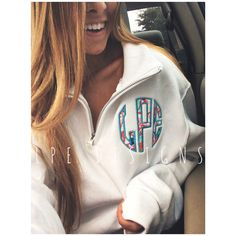 Lilly Pulitzer Monogram Quarter Zip by LPEdesigns on Etsy https://www.etsy.com/listing/209053387/lilly-pulitzer-monogram-quarter-zip