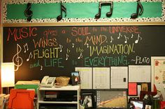 """Hillary's Highlights: Confessions of a Music Teacher: Classroom Tour. I like her """"Mystery Composer"""" bulletin board, and I LOVE the """"Music in Action"""" board and the """"Song of the Week"""" board. Man, I can't wait to have my own classroom everyday. Music Room Organization, Classroom Organization, Classroom Ideas, Classroom Management, Classroom Design, Organization Ideas, Piano Lessons, Music Lessons, Music Bulletin Boards"""
