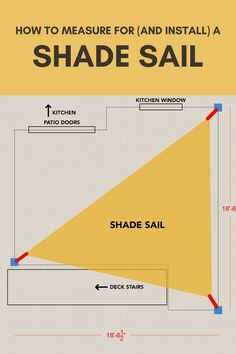 Learn how to install a shade sail. A DIY Shade Sail installation is a budget-friendly way to add shade over your deck or patio. Shade Sail for Patio | Shade Sail for Deck | Shade Sail Installation | Sun Shade Posts | Shade Sail Posts | How to Mount Shade Sail | Affordable Patio Cover | Affordable Deck Cover | Shade Sail for Pool | How to Measure for a Shade Sail
