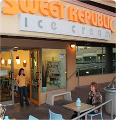 Sweet Rebublic-for great organic ice cream made on site. many different flavors like lavendar, salted carmel and spicy chocolate. worth it!  92nd St and Shea and in Whole Foods