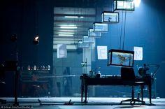 Théâtre Vidy, Lausanne Max Black 1998 avec André Wilms Scénographie: Klaus Grünberg