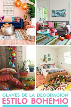 ▷ Estilo bohemio. Descubre las claves de la decoración bohemia. Interior Bohemio, Boho Living Room, Interior Decorating, Interior Design, Deco Furniture, Boho Decor, Home Projects, Sweet Home, Bedroom Decor