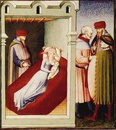 Térence, Comédies, France (Paris), vers 1410 Enluminure de Maître de Luçon Paris, BnF, Arsenal, manuscrit 664, fol. 230v.