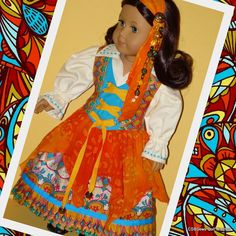 American Girl Doll Halloween Gypsy Costume by CsbsewsDollClothes, $72.00