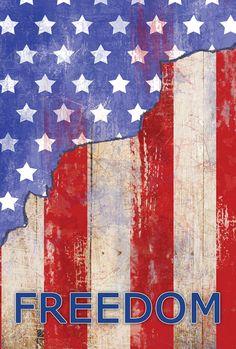 "Primitive Patriotic Birdhouse with Apples /""America/"" Rustic Small Garden Flag"