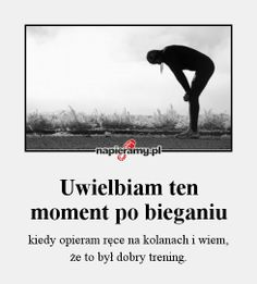 #bieganie #trening #motywacja Sport Inspiration, Running Motivation, Aerobics, Kickboxing, Excercise, Texts, Lose Weight, Health Fitness, Workout