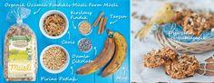 Muzlu Çikolatalı Organik Müslili Kurabiye    Malzeme:  200 g Organik Üzümlü Findikli MF Müsli 50 g Kırılmış Fındık 50 g Ceviz 100 g Pirinç Patlağı 50 g Damla Çikolatalı 2 çay kaşığı Tarçın 2  Muz   Zorluk:**  Tarif: Olgunlaşmış muzları soyup ezin. Büyük bir kabın içine tüm malzemeleri ekleyip, karıştırın. Tepsinin üzerine yağlı kayıt serin ve hazırladığınız karışımı yumurta büyüklüğünde dizin. Önceden 180°C ısıtılmış fırında yaklaşık 15 dakika kurabiyelerin üzeri hafifce kızarıncaya kadar…