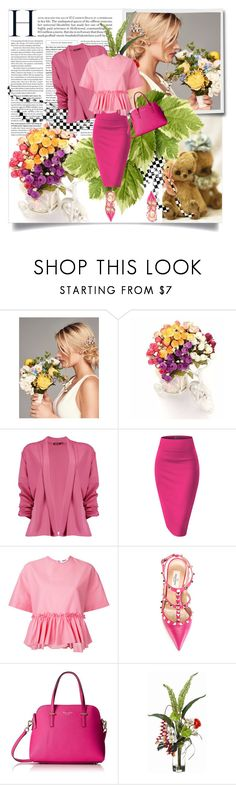 """Untitled"" by wutheringheights55 ❤ liked on Polyvore featuring Wedding Belles New York, Boohoo, MSGM and Valentino"