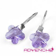 Purple Earrings Swarovski Crystal Sterling Silver by Advenche, £9.99