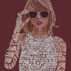 Red Taylor Swift Typography