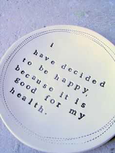 5 dish voltaire quote  MADE TO ORDER by mbartstudios on Etsy