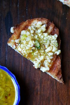 Salsa di Parmigiano: A blend of parmesan cheese, olive oil and red pepper flakes to eat on grilled bread. Bruschetta, Pesto, Grilled Bread, Tapenade, Burger, C'est Bon, Tostadas, I Love Food, Italian Recipes