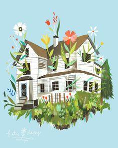 Another illustration by Katie Daisy.... LOVE her stuff!!!!!!  Magic Farmhouse by katiedaisy, via Flickr