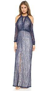 In A Daze Shirtdress Parker Black Casa Gown $815.00 @ shopbop