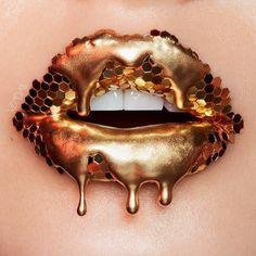Rose Gold Lip Art