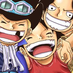 ASL Ace Sabo Luffy One Piece Manga, Manga Anime, Ace Sabo Luffy, Fandoms