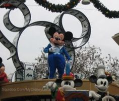 Mickey Mouse in the Magic Kingdom's daytime parade