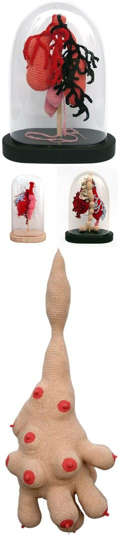 Cecile Dachary - Organes - Crochet - 2010