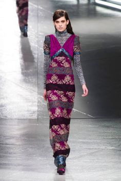 Loving the color of the year: Radiant Orchid! Rodarte Fall 2014 Ready-to-Wear Runway - Rodarte Ready-to-Wear Collection