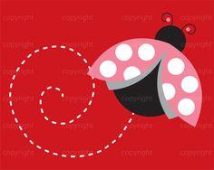 INSTANT DOWNLOAD | Cute Ladybug Illustration | Lady Bug Nursery Art | Shanna Riehl Art Shoppe | $3.50