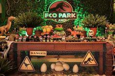 Birthday Party At Park, Dinosaur Birthday Party, Birthday Party Themes, Fête Jurassic Park, Lego Jurassic, Park Party Decorations, Jurrassic Park, Childrens Party, Party Printables
