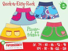 Kindermode - Papierschnittmuster Quick-&Easy-Rock Gr. 74... - ein Designerstück von kreativ-jule-Material bei DaWanda