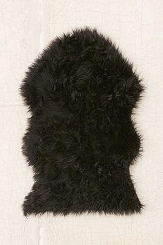 Faux Sheepskin Shaped Rug